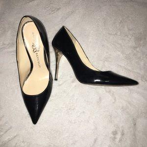 Patent Black Pointed Closed Toe Heels RockRepublic